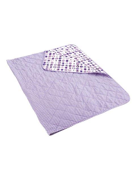 sengetæppe med stjerner lavendel